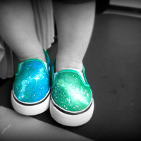 Orion Children's Galaxy Shoes Made to Order by astrodust on Etsy
