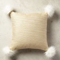 "Kodiak Pillow by Anthropologie in Gold Size: 18"" X 18"" Pillows"