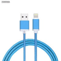 XINNIER Metal MFI Lightning to USB Cable For iPhone 5 SE 6 6s plus iPad Nylon Braid Fibre fast charging iPhone Cable USB