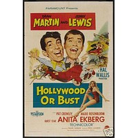 Hollywood Or Bust Jerry Lewis Vintage Movie Poster