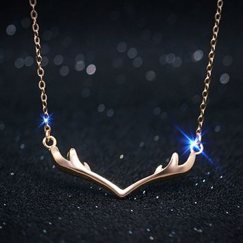Lucky Antler Necklace - 925 Sterling Silver