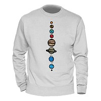 Male Clothing Solar System Planets Colour Hoody  Winter Spring Sweatshirts Mens Casual Streetwear  Hoodies