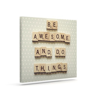 """Cristina Mitchell """"Be Awesome And Do Things"""" Wooden Letters Canvas Art"""