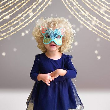Kids Butterfly Costume Face Mask, Toddler Butterfly Costume Mask, Butterfly Themed Birthday Party Mask