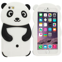 Panda Silicone Design Soft Skin Case Cover for Apple iPhone 6 6S (4.7)