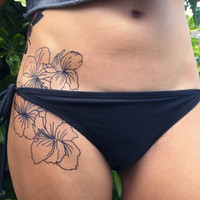 Large Floral Cluster Hand Drawn Temporary Tattoo