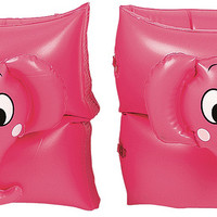 Set of 2 Pink Funny Elephant Inflatable Swimming Pool Arm Floats for Kids 3-6 Years