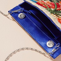 Fanciful Florals Embroidered Clutch