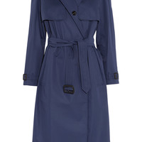 Burberry London - Leather-trimmed cotton-blend gabardine trench coat