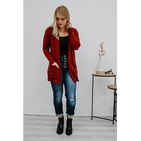 Remember The Moment Cardigan - Burgundy
