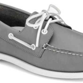 Sperry Top-Sider Authentic Original School Spirit 2-Eye Boat Shoe Gray, Size 12M  Men's Shoes