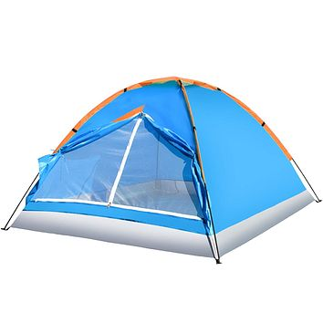 Hiking 2-3P Tent Waterproof Double Layer 2 Person 3 Season Backpacking TentOutdoor Family Camping Hunting Fishing Hiking Travel Tents Navy