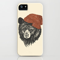 zissou the bear iPhone & iPod Case by Laura Graves