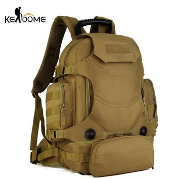 Military Backpack Waterproof  Nylon Sports Bag Shoulders Outdoor Pack Travel Tactical Backpacks With Waist Bags Mochlia XA157WD
