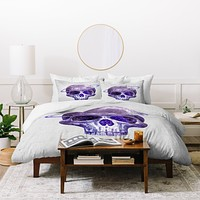 Terry Fan Cosmic Skull Duvet Cover