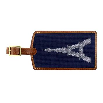 Eiffel Tower Needlepoint Luggage Tag by Smathers & Branson