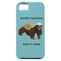 Blue Curacao Honey Badger Dont Care iPhone 5 Cover