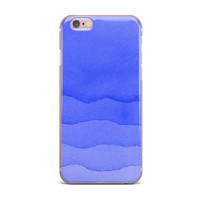 "Kess Original ""Ombre Berry"" Blue Digital iPhone Case"