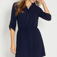 shirtdress in blue jasmine | maurices