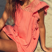Aerie Lace Top Cover-Up , South Peach