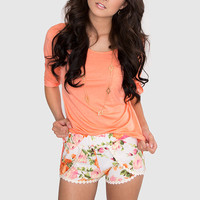 Floral Bombshell Shorts
