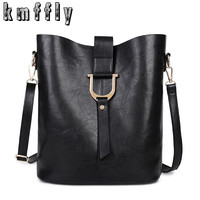 Large capacity Bucket high quality Pu leather Shoulder Bag luxury handbags designer bolsas de festa de luxo bag casual Style