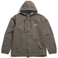 Lodge Hooded Coach Jacket Taupe