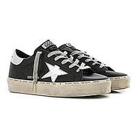 Golden Goose Black and Silver Rubber sole Hi-Star Women Sneakers G34WS945.B9-35