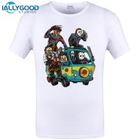 2017 Newest Men Horror Movie The Massacre Machine Printed T Shirt Sleeve O-Neck Brand michael myers Clothes Cool Hipster Top Tee
