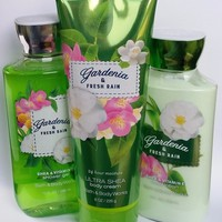 Bath & Body Works GARDENIA & FRESH RAIN Body Cream / Body Lotion / Shower Gel