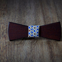 FREE SHIPPING till 15th October!!  Handcrafted Wooden Bowtie . Red wood .Handicraft unique men accessory.Manly gift. #JVbowtie