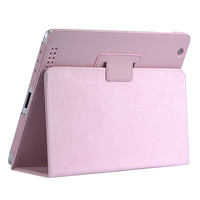Stylish iPad Case iPad 2/3/4 Drop Resistance Protective Cover Support Pink