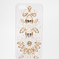 Skinnydip White and Rose Gold Bling iPhone 5 Case