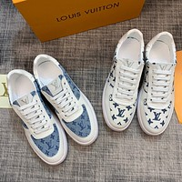 LV Louis Vuitton BEST QUALITY Men's Leather Low Top Sneakers Shoes