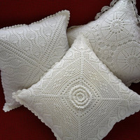 Set 2 Valentine Handmade Crochet Cushions Collection- Crochet Pillow cover- Multiple designs -