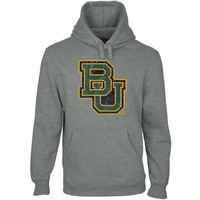 Baylor Bears Distressed Secondary Pullover Hoodie - Gunmetal