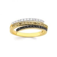 1/3ct tw Diamond Fashion Ring in 14K Yellow and White Gold - Diamond Rings - Jewelry & Gifts
