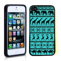 iPhone 5 5S Case ThinShell TPU Case Protective iPhone 5 5S Case Shawnex African Animals Tribal Pattern Aztec