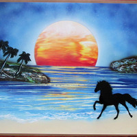 large horse spray paint art,horse pictures,horse painting,horse gifts for girls,horse nursery decor,horse wall art,horse wall decor,birthday