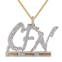 Hip Hop CFN Came From Nothin Iced Out Hustle Pendant Chain