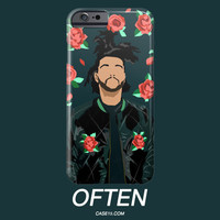 The Weeknd Floral Pattern IPhone / Galaxy Phone Case