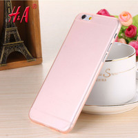 0.28mm Ultra thin matte Case cover skin for iPhone 6 plus/5.5 S Translucent slim Soft plastic Cellphone Phone case