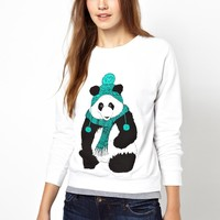 Brat & Suzie Christmas Jumper With Panda Print