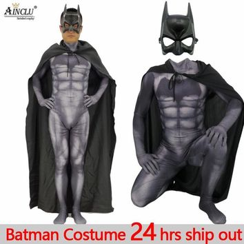 Cool Ainclu Adults Man Kids Dark Knight Batman Cosplay Costumes Child Halloween Party Fancy Dress Superhero Carnival Cosplay SuitsAT_93_12