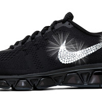 Nike Air Max Tailwind - Crystallized Swarovski Swoosh - Triple Black