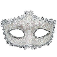 Lace with Rhinestone Venetian Masquerade Mask