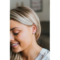 Pave Earrings - Silver