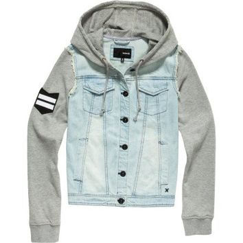 Hurley - Womens Camaro Button Jacket, Size: Small, Color: Htr Grey