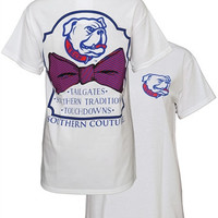 Southern Couture LA Tech Bulldogs Classic Bow University Girlie Bright T Shirt