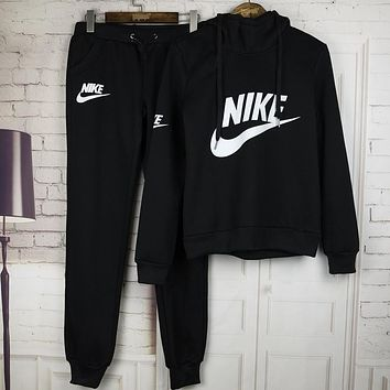 Nike Casual Hoodie Sweater Pants Trousers Set Two-Piece